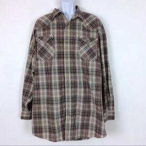 Roper Shirts - Roper | Pearl Snap Long Sleeve Check Shirt 3XLT
